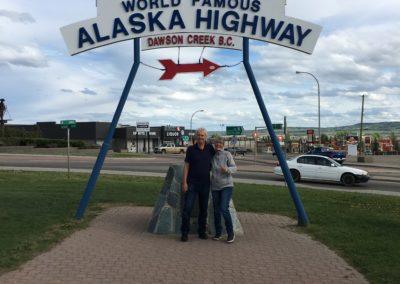 Mile 0 des Alaska HWY