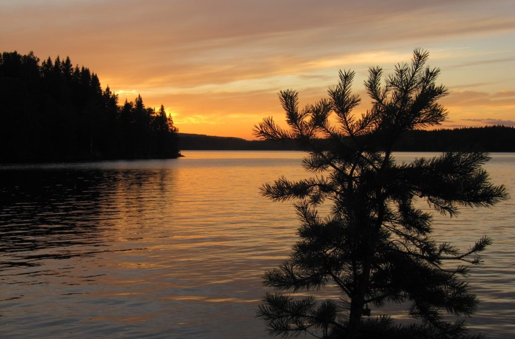 Juli 2015, auf den Seen im Süden von Hällefors